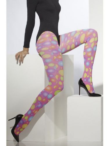 Opaque Tights - Pink with Spots (Fever 29613)